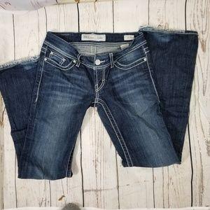 BKE Denim Stella distressed raw hem 25 31.5 jeans